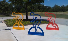 Three sculptural bicycle racks were installed at the Jule Collins Smith Museum of Fine Art during May's National Bike Month