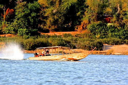 local boat on the Mekong