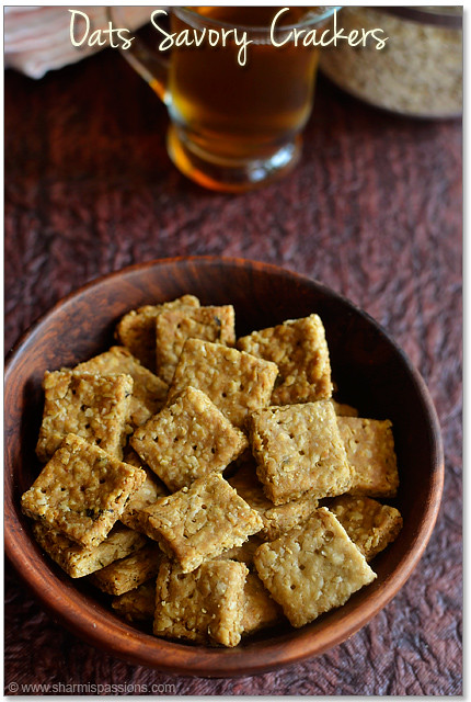 No butter Oats Crackers Recipe