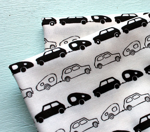 Mini Cooper and trailer fabric