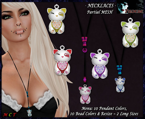 *P* Kitten Necklaces ~10 Colors~ (P-MESH)
