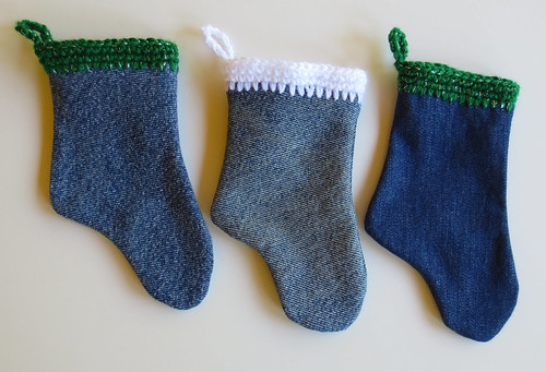 Recycled Denim Christmas Stockings