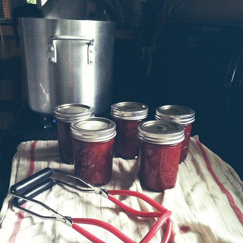 I can't stop. #canning #strawberryrhubarbjam