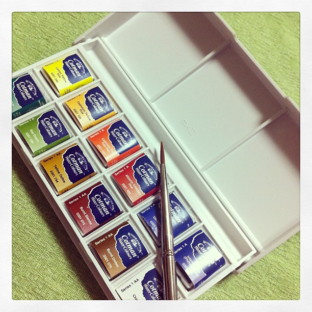 My new toywatercolor  Can't wait to try these:)