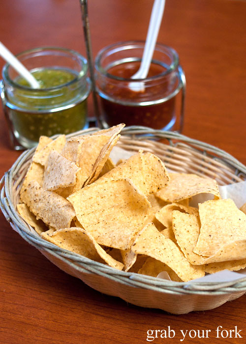 tortilla chips at tamales lilianas restaurante mexican in east los angeles