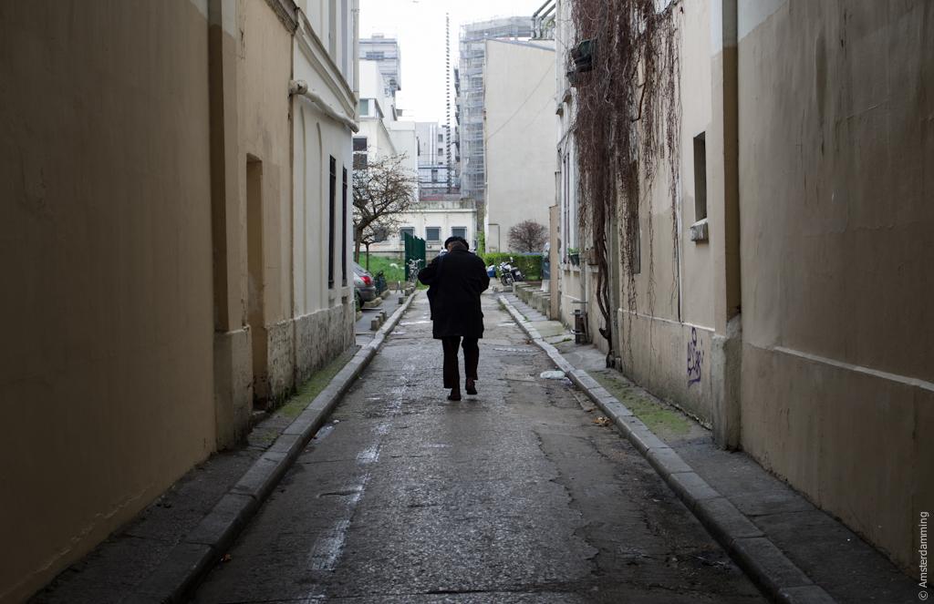 Paris, Man in Black near Rue Popincourt