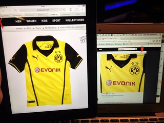 Puma Kids BVB Internationales Trikot (Borussia Dortmund UEFA Champions League Trikot 2013/2014 ?)