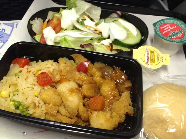 Sweet and sour chicken - United Airlines