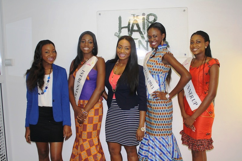 Miss Ghana 2013 winners visit Hair Senta (6)