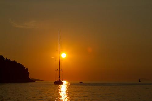 sunset boat sailing croatia hrv kroatien dubrovačkoneretvanska