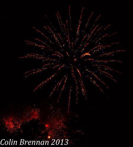 Fireworks in Ballyfin