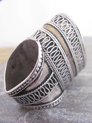 Old silver Turkoman Ring.