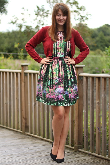 OOTD, outfit of the day, uk style blog, cropped cardigan, primark dress, asos heels
