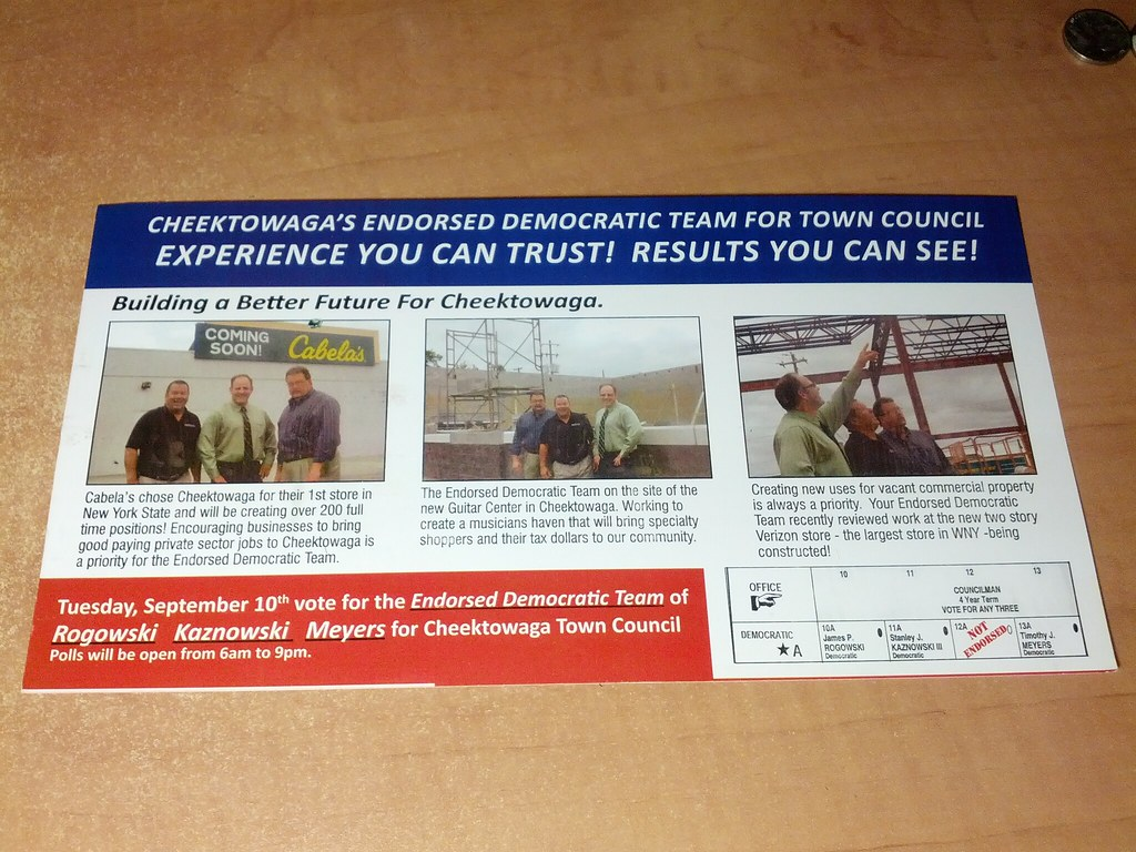 Tim,  Jim and Stan Cheektowaga Town Council