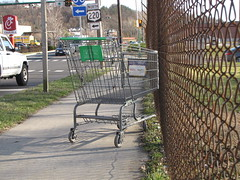 Shopping cart on Park Street
