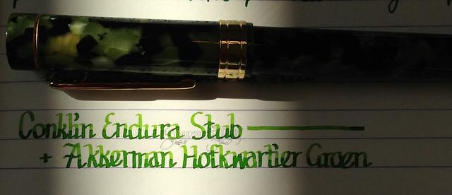 Conklin Endura Stub & Akkerman Hofkwartier Groen