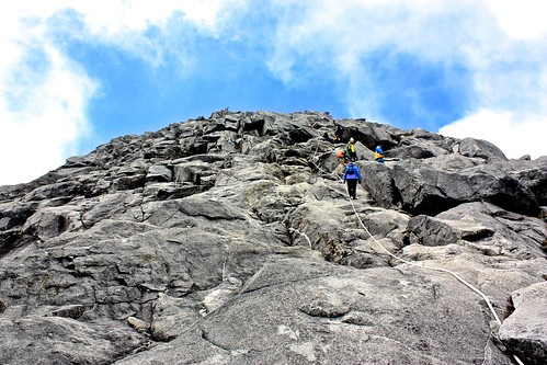 caught up to a group of people on the three day Kinabalu trek