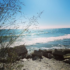 This particular view of Lake Ontario came with a gorgeous soundtrack of pounding surf.