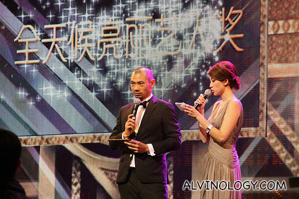 Hosts, King Kong Li and Elaine Yiu