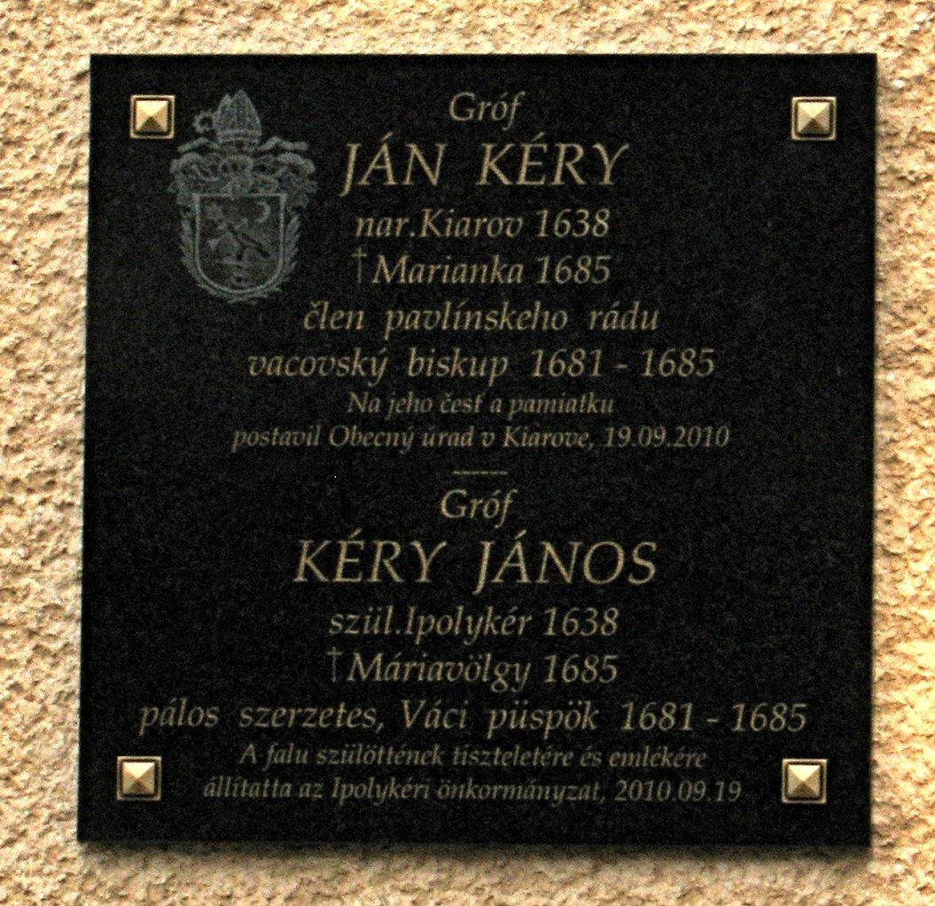 Pam. tabuľa J. Kérymu