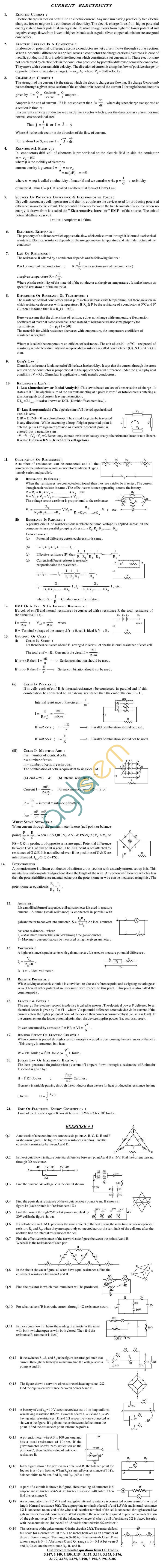 Physics Study Material - Current Electricity