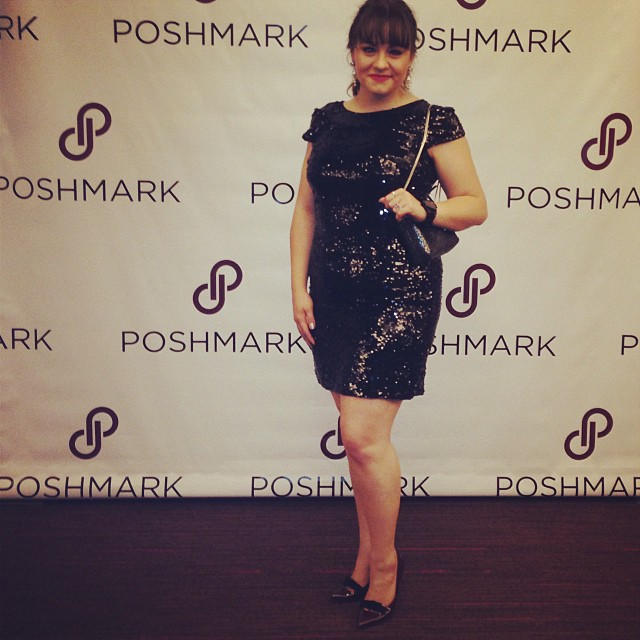 My #poshparty attire! #sequins #ootd #wiw #poshfest #vegas #stylediaries