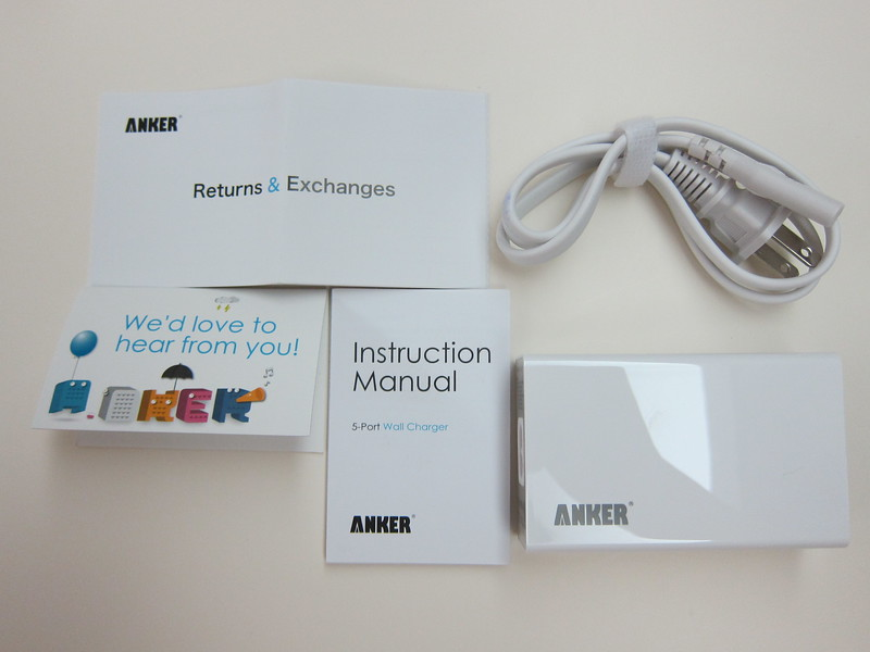 Anker 5-Port Wall Charger - Box Contents