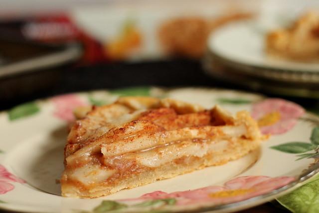 Pear and ginger crostata - slice