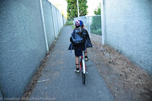 Eleni rides home alone-8