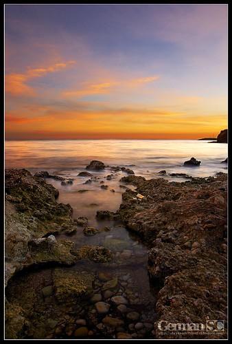 longexposure winter sunset sea water rock landscape mar spain mediterranean cel catalonia catalunya seda aigua roca posta paisatge hivern mediterrani almadrava tamron1750f28 llargaexposició sonyalphadslra200 atravésdelvisor germansc