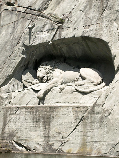 Lion Monument, Lucern, Switzerland