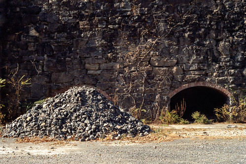 Abandoned Cement Kiln with Gravel