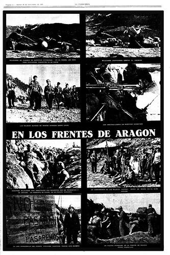La Vanguardia, suplemento gráfico, 26 de noviembre de 1936, fotos Agustí Centelles (c) 2013 Archivos Estatales, MECyD, CENTRO DOCUMENTAL DE LA MEMORIA HISTÓRICA, Salamanca, todos los derechos reservados. by Octavi Centelles