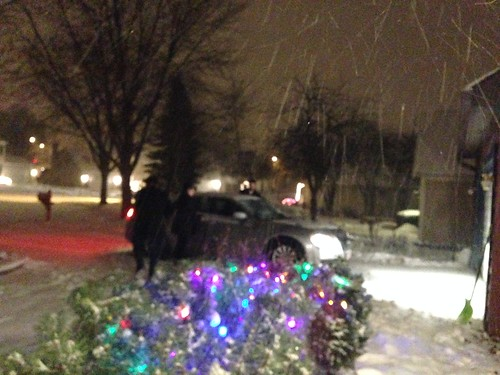 Doug and Nate Making Late Night Snowy Run to Home Depot for Plumbing Supplies