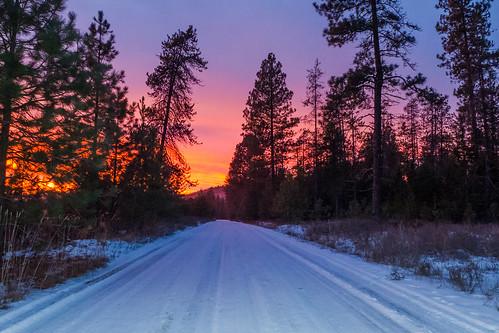 light sunset snow color washington dusk washingtonstate easternwashington inlandnorthwest
