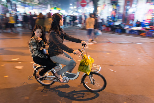 Two girls on a bike by kewl