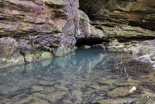 North Fork Honey Creek 2, sandstone, Big South Fork NRRA, Scott Co, TN