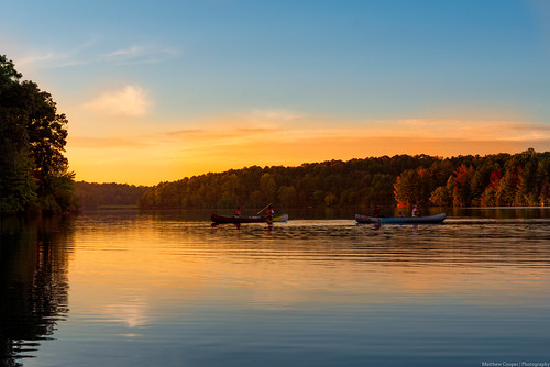 statepark autumn sunset lake fall water colors reflections canoe sweetwater d800