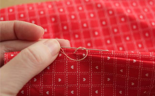 DIY hand slip stitch