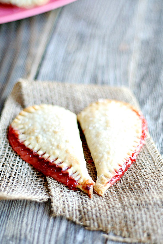 Strawberry {heart} Pies