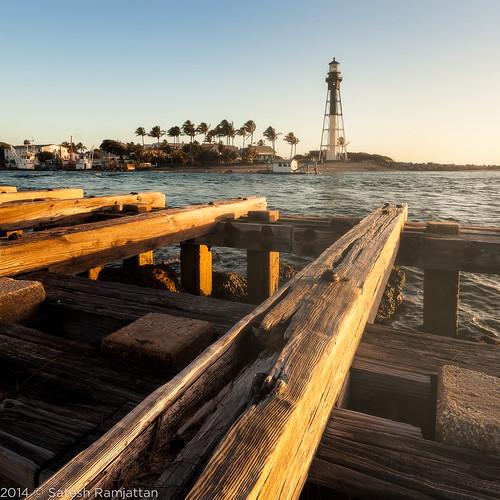 lighthouse sunrise landscape jetty satesh hillsboroinlet peaceinart
