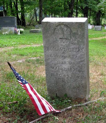 newyork cemetery genealogy gravestone drake baldwin chemungcounty hickscemetery