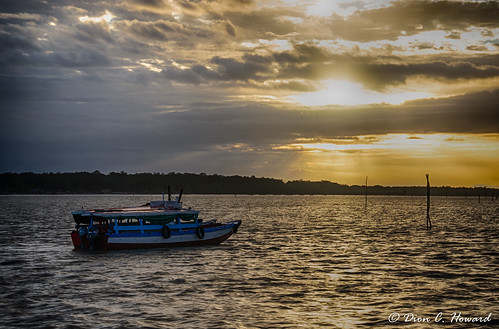 sky sun clouds sunrise river boat nikon hdr suriname commewijne d7000 braamspunt