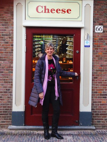 Janice buys cheese in Amsterdam via MealMakeoverMoms.com/kitchen
