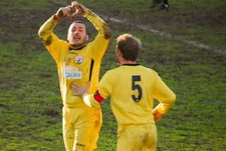 L'esultanza di Giovanni Anelli dopo il gol