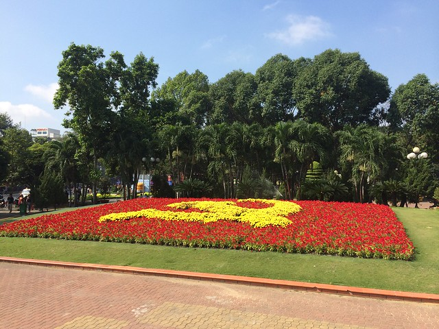 Communist flower bed