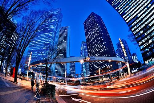 Nishi-Shinjuku at Dusk by hidesax