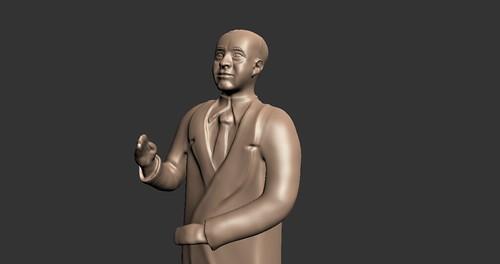 Burroughs Statue WIP