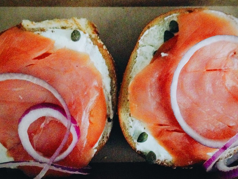 Nova Lox bagel post-run