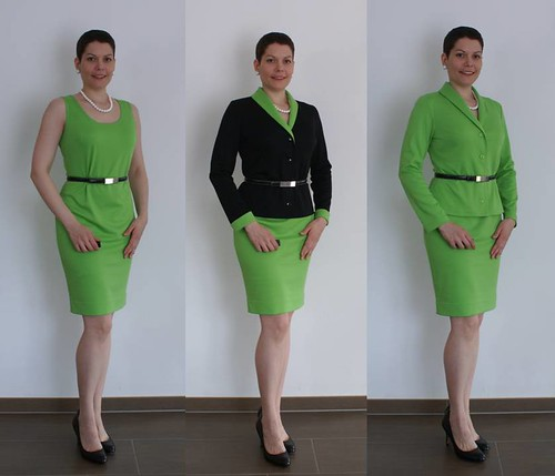 Composite - green dress